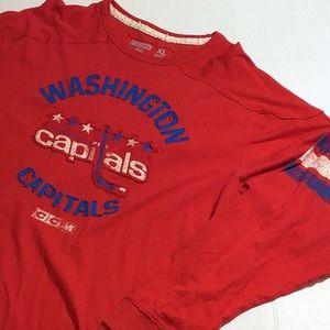 NHL CCM retro Washington capitals shirt